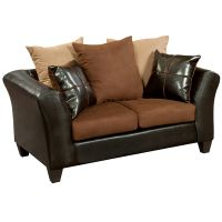 Flash Furniture Riverstone Sierra Chocolate Microfiber Loveseat FHFRS417001LGG