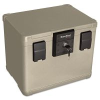 SureSeal By FireKing Fire and Waterproof Chest, 0.60 cu. ft., 16w x 12 1/2d x 13h, Taupe FIRSS106