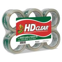 "Duck Heavy-Duty Carton Packaging Tape, 1.88"" x 55yds, Clear, 6 Rolls DUCCS556PK"