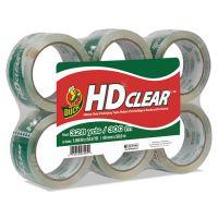 """Duck Heavy-Duty Carton Packaging Tape, 1.88"""" x 55yds, Clear, 6 Rolls DUCCS556PK"""