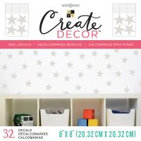 """DCWV Create Decor Removable Wall Decals 8""""X8"""" NOTM539781"""