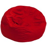 Flash Furniture Oversized Solid Red Bean Bag Chair FHFDGBEANLARGESOLIDREDGG