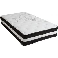Flash Furniture Capri Comfortable Sleep 12 Inch Foam and Pocket Spring Mattress, Twin in a Box FHFCLE230PRTGG