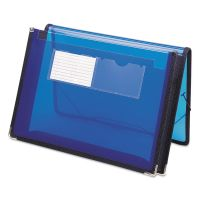 """Smead 2"""" Exp Ultracolor Wallet, Poly, Letter, Translucent Blue SMD71953"""