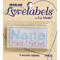 Iron-On Lovelabels 4/Pkg NOTM100504