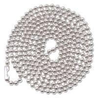 "Advantus ID Badge Holder Chain, Ball Chain Style, 36"" Long, Nickel Plated, 100/Box AVT75417"