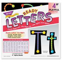 "TREND Ready Letters Alpha-Beads Letter Combo Pack, Black,Multiple Colors, 4""h, 216/Set TEPT79755MP"