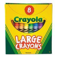 Crayola Large Crayons, Tuck Box, 8 Colors/Box CYO520080