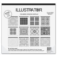 Aurora Illustrator Coloring Deskpad Refills AUA16131