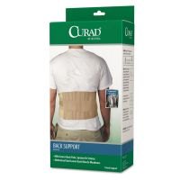 "Curad Back Support, Elastic, 33"" to 48"" Waist Size, 33w 48d x 10h, 6 Stays, Beige MIIORT22000D"