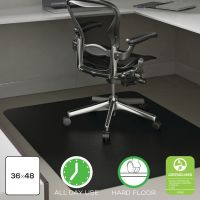 Deflecto EconoMat® Non-Studded Anytime Use Chairmat for Hard Floors DEFCM21142BLKCOM