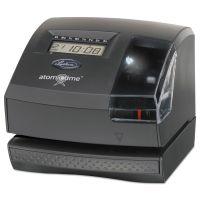 Lathem Time 1600E Wireless Atomic Time Recorder with Tru-Align Feature, Dark Gray LTH1600E