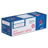 Avery Dot Matrix Mailing Labels, 1 Across, 15/16 x 3 1/2, White, 5000/Box AVE4013