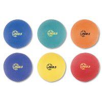 Champion Sports Playground Ball Set, Nylon, Assorted Colors, 6/Set CSIPGSET