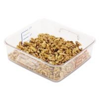 Rubbermaid Commercial SpaceSaver Square Containers, 2qt, 8 4/5w x 8 3/4d x 2 7/10h, Clear RCP6302CLE