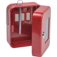 FireKing Hercules Emergency Safe, Steel, 0.05 ft3, 4-3/4w x 6d x 3h, Red FIREK0506