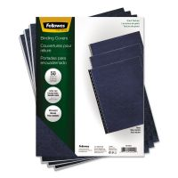 Fellowes Classic Grain Texture Binding System Covers, 11 x 8-1/2, Navy, 50/Pack FEL52124