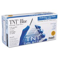 AnsellPro TNT Disposable Nitrile Gloves, Non-powdered, Blue, X-Large, 100/Box ANS92675XL