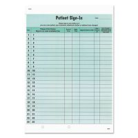 Tabbies Patient Sign-In Label Forms, 8 1/2 x 11 5/8, 125 Sheets/Pack, Green TAB14532
