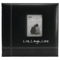 "Embroidered Stitched Leatherette Post Bound Album 12""X12"" NOTM356500"