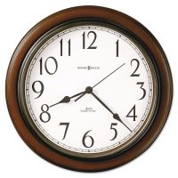 "Howard Miller Talon Auto Daylight-Savings Wall Clock, 15 1/4"", Cherry MIL625417"