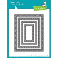 Lawn Cuts Outside In Stitched Scalloped Rectangle Custom Craft Stackables Dies NOTM086985