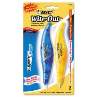 "BIC Wite-Out Exact Liner Correction Tape, 1/5"" x 236"", Blue/Orange, 2/Pack BICWOELP21"