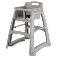 Rubbermaid Commercial Sturdy Chair Youth Seat, Plastic, 23 3/8w x 23 1/2d x 29 3/4h, Platinum RCP780608PLA