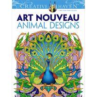 Dover Publications: Creative Haven Art Nouveau Animal Coloring Book  NOTM162319