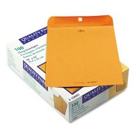 Quality Park Park Ridge Kraft Clasp Envelope, 10 x 13, Brown Kraft, 100/Box QUA43097