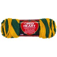 Red Heart Team Spirit Yarn - Green/Gold NOTM060587