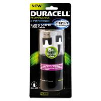 Duracell Sync And Charge Cable, Micro USB, 6 ft ECAPRO428