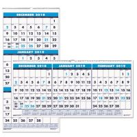 House of Doolittle Recycled Three-Month Format Wall Calendar, 8x17, 14-Month (Dec.-Jan.) 2018-2020 HOD3646