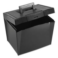 Pendaflex Portable File Storage Box, Letter, Plastic, 13 1/2 x 10 1/4 x 10 7/8, Black PFX20861