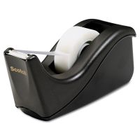 "Scotch Value Desktop Tape Dispenser, 1"" Core, Two-Tone Black MMMC60BK"
