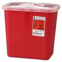 Covidien Sharps 2 Gallon Container with Rotor Lid CVDSRRO100970