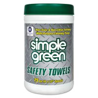 Simple Green Safety Towels, 10 x 11 3/4, 75/Canister SMP13351