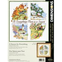 A Season For Everything Stamped Cross Stitch Kit NOTM237673