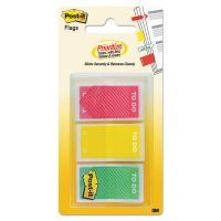 "Post-it Flags Arrow Message 1"" Prioritization Page Flags, ""TO DO"", Red/Yellow/Green, 60/Pack MMM682TODO"