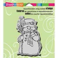 "Stampendous Christmas Cling Rubber Stamp 3.5""X4"" Sheet NOTM096081"