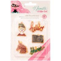 Shimelle Glitter Girl Enamel Charms 5/Pkg NOTM092271