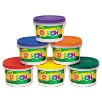 Crayola Modeling Dough Bucket, 3 lbs., Assorted, 6 Buckets/Set CYO570016
