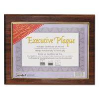 NuDell Executive Plaque, Plastic, 13 x 10-1/2, Walnut NUD18851M