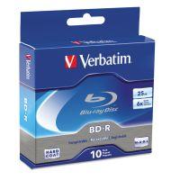 Verbatim BD-R Blu-Ray Disc, 25GB, 6x, 10/Pk VER97238