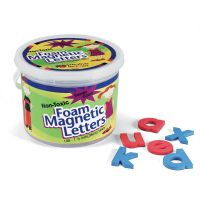 """(Lowercase Letters) Shape - Magnetic - Non-toxic - Letter Height: 1.5"""" - Blue Consonants - Red Vowels - Assorted - Foam - 108 / Set PAC27570"""