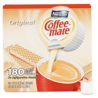 Coffee-mate Liquid Coffee Creamer, Original, 0.375 oz Mini-Cups, 180 per Box NES753032