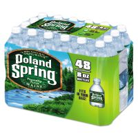 Poland Spring Natural Spring Water, 8 oz Bottle, 48 Bottles/Carton NLE1098091