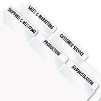 Redi-Tag Laser Printable Index Tabs, 2 x 7/8, White, 300/Pack RTG39170