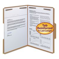 Smead 11 Point Kraft Folders, Two Fasteners, 1/3 Cut Top Tab, Letter, Brown, 50/Box SMD14837