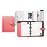 Day-Timer Pink Ribbon Loose-Leaf Organizer Set, 5 1/2 x 8 1/2, Pink Leather Cover DTM48434
